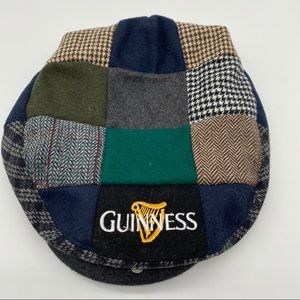 Guinness Green, Grey Plaid Flat Cap Adjustable